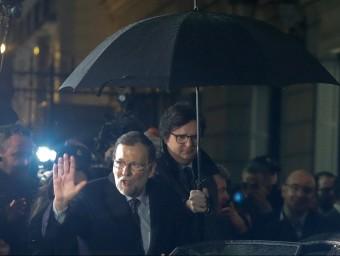 El president del govern espanyol en funcions, Mariano Rajoy, aquest divendres a la sortida del Congrés EFE