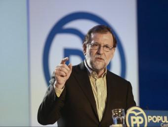 El líder del PP, Mariano Rajoy, aquest dissabte en un acte del partit a Salamanca EFE