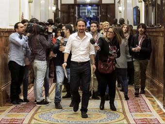 El líder de Podem, Pablo Iglesias, dimecres passat al Congrés EFE
