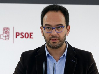 Antonio Hernando, portaveu del PSOE, en una roda de premsa dissabte a Madrid EFE