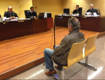 Riera durant el judici, que es va celebrar el 8 de març a la secció tercera de l'Audiència G. P