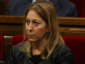 Neus Munté, consellera de la Presidència, durant el ple sobre la pobresa al Parlament ACN