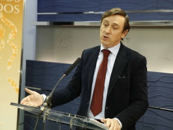 Rafael Hernando, portaveu del PP al Congrés dels Diputats, aquest dimecres a la cambra baixa espanyola