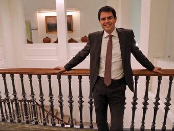 L'alcalde d'Igualada, Marc Castells, a l'Ajuntament.  JUANMA RAMOS