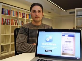Alfonso Mérida va idear Scanlotería com un projecte de fi de carrera.  JUANMA RAMOS