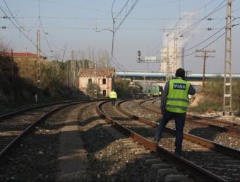 El descarrilament d'un tren a Ascó el passat gener va forçar a tallar el servei dies. ACN