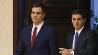 Pedro Sànchez i Albert Rivera en una imatge d'arxiu. EFE