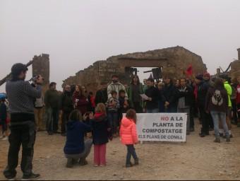 Protesta, el novembre passat, de plataforma contrària al projecte de planta de compostatge E.P
