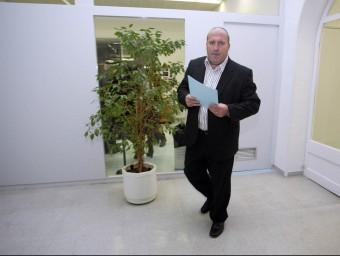 Josep Maria Puigibet quan era alcalde de la Bisbal en una foto d'arxiu. JUDITH FERNÁNDEZ