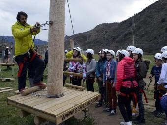 Els alumnes del programa d'intercanvi també han fet activitats lúdicques, com una visita al parc d'aventura de Rialp MARTA LLUVICH / ACB