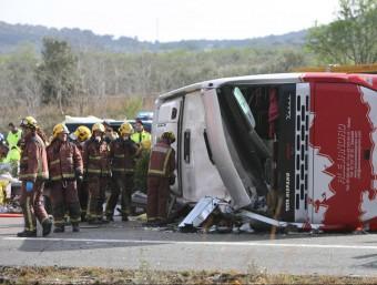 L'autocar sinistrat portava 61 persones EFE