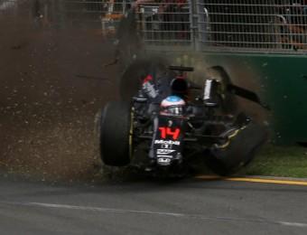L'aparatós accident d'Alonso va condicionar la cursa MAX BLYTON / AFP