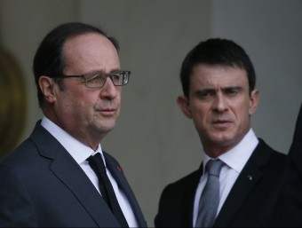 Hollande i Valls, a l'Elisi per parlar dels atemptats de Brussel·les REUTERS