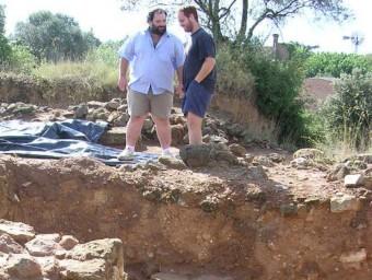 Excavacions al Mas Castellar en una imatge d'arxiu R. E