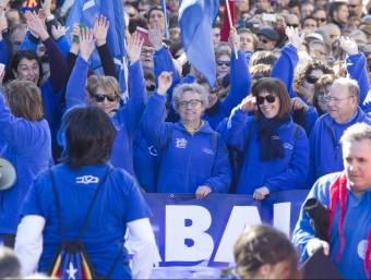 Milers de persones es van manifestar el 7-F a Amposta contra el pla hidrològic. J.C.LEÓN / ARXIU