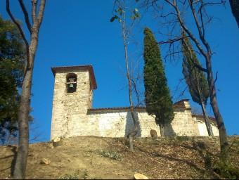 Vista de la façana de migdia de Sant Andreu, després de la tala. R. E