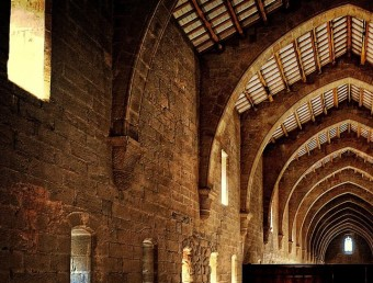 Interior view of the Poblet Monastery
