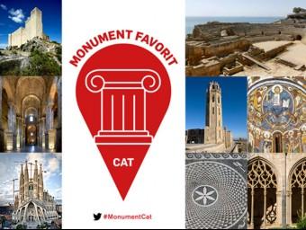 La imatge promocional dle concurs Monument Favorit amb els 10 monuments proposats per un grup d'historiadors i historiadors de l'art