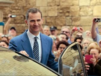 El monarca espanyol en una imatge de la Setmana Santa a Palma REUTERS