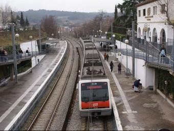 L'estació de Sant Quirze del Vallès ARXIU