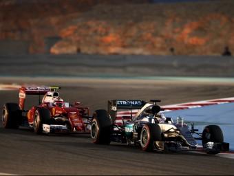 Hamilton, al davant de Räikkönen durant l'entrenament cronometrat REUTERS