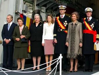 Pilar de Borbón al costat de la reina Letizia en una imatge d'arxiu