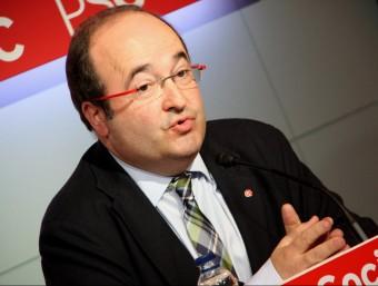 El líder del PSC, Miquel Iceta, aquest dilluns a la seu del partit ACN