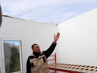 Al mes de febrer el vent es va endur la taulada del local dels bombers voluntaris QUIM PUIG