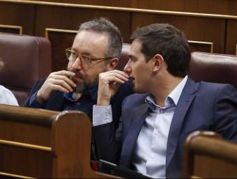 Juan Carlos Girauta i Albert Rivera en el Congrés