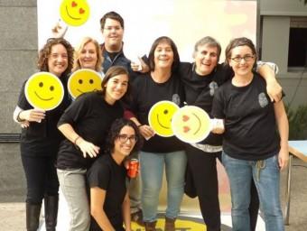 Professionals de l'Associació Alba de Tàrrega en una jornada sobre la felicitat CIS-UDL