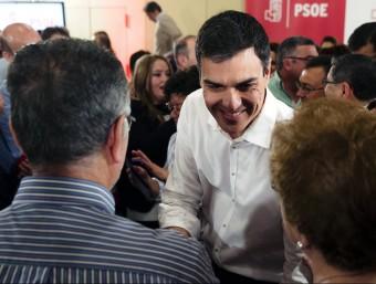 El secretari general del PSOE, Pedro Sánchez, en un acte a Màlaga EFE
