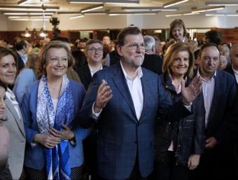 Mariano Rajoy, aquest dissabte a Saragossa EFE