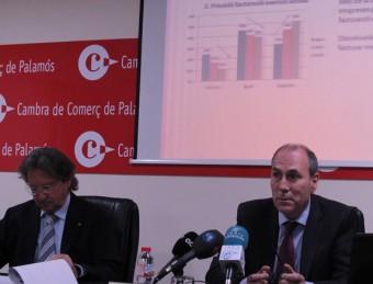 Puig i Ribera, ahir, presentant les dades de l'enquesta econòmica feta per les cambres E.A