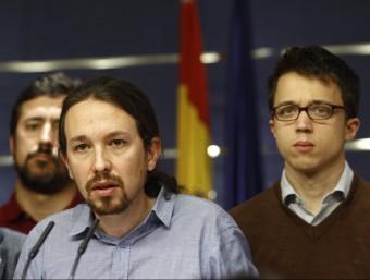 Els dirigents de Podem Pablo Iglesias i Íñigo Errejón, en una roda de premsa al Congrés dels Diputats EUROPA PRESS