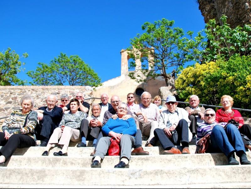 Una imatge de la trobada de cistellers de la Selva, el dia 16 al restaurant El Castell de Brunyola EL PUNT AVUI