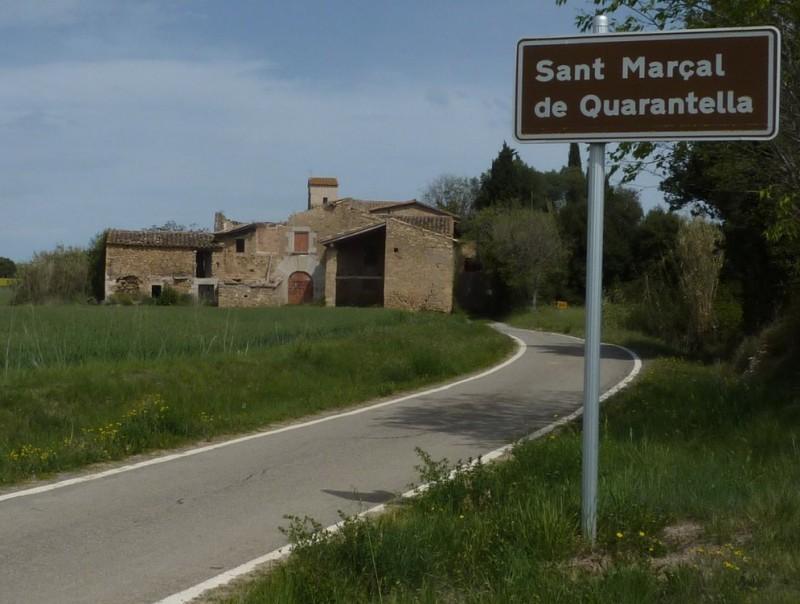 El nucli rural de Sant Marçal de Quarantella, aquesta setmana. R. E
