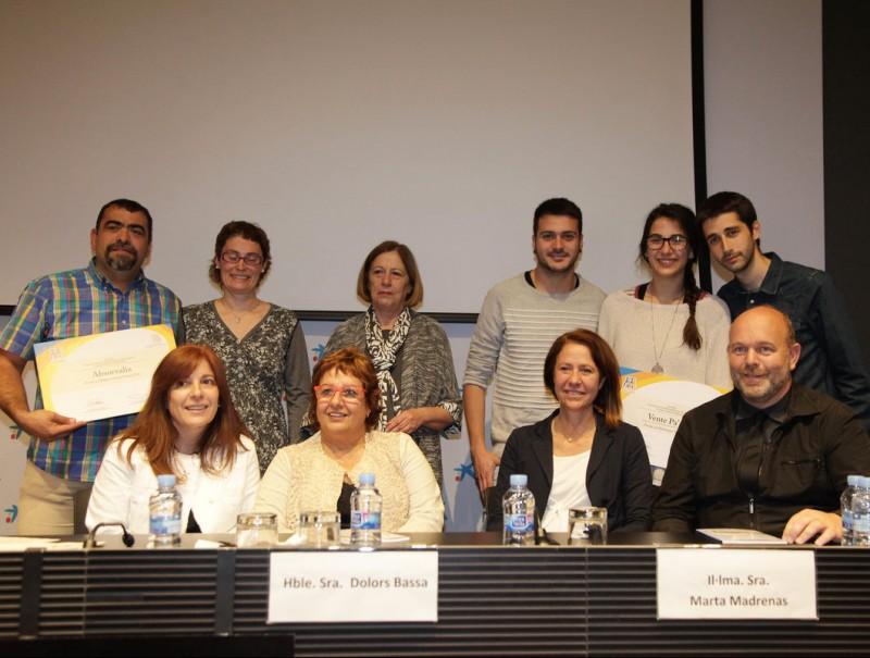 Les persones que van ser guardonades ahir amb els IV Premis d'Acció Social que es van lliurar ahir. JOAN SABATER