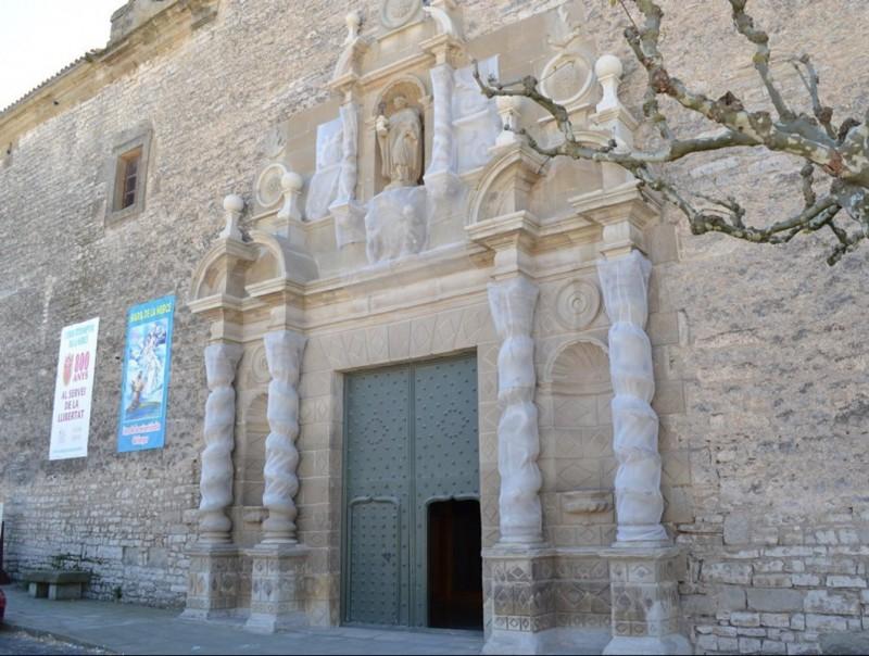 """Façana ja restaurada del santuari de Sant Ramon, conegut com """"L'Escorial de la Segarra"""" CC DE LA SEGARRA"""