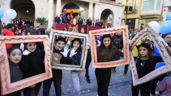 Els nens i nenes de Figueres, ahir protagonistes del pregó LLUÍS SERRAT