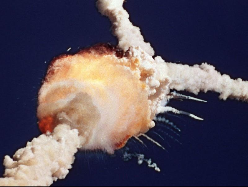 L'explosió del transbordador espacial Challenger.  ARXIU