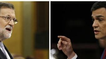 Rajoy i Sánchez, els líders dels dos principals partits espanyols EP