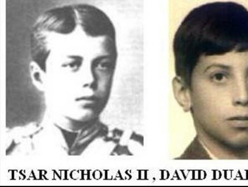 Nicolas II i David Duaigües, fotos aportades pel demandant.