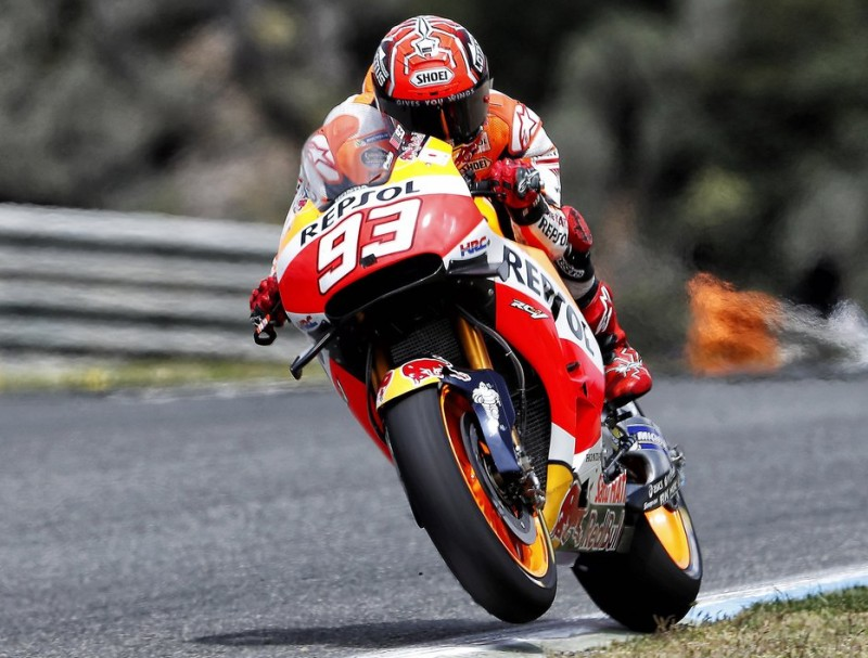 Marc Márquez, en el test a Jerez EUROPA PRESS