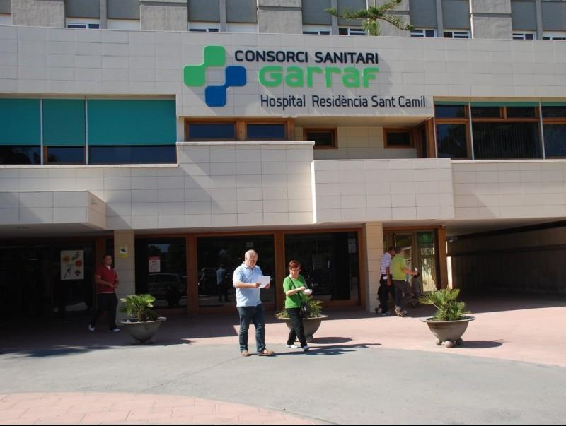 Entrada principal de l'hospital residència Sant Camil de Sant Pere de Ribes, el centre de referència de la regió. ARXIU