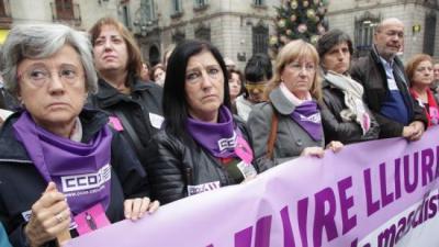 Acte contra la violència mascista a Barcelona ARXIU