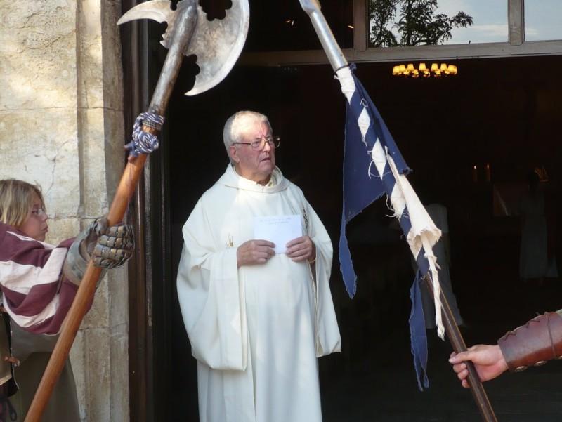Mossèn Josep Planas, en una imatge del 2008, dues dècades després dels fets denunciats, quan exercia a Pals i va prendre part en un homenatge del poble a Cristòfor Colom A. VILAR