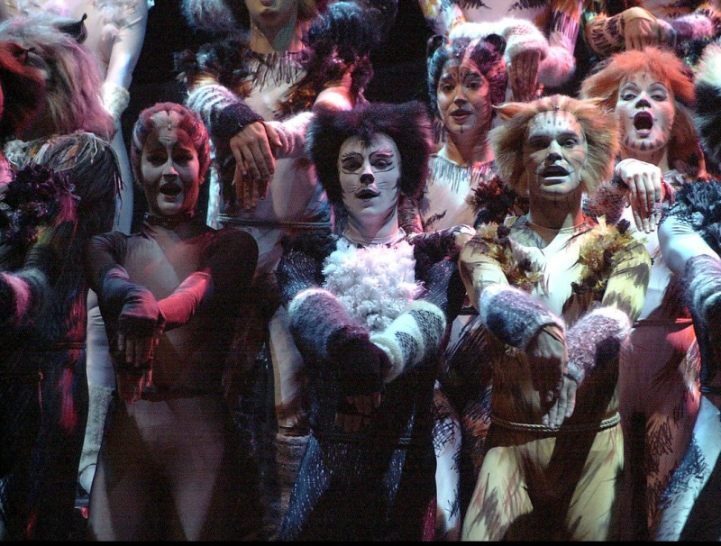 Representació del musical 'Cats' a Madrid el 2003.  ARXIU /EFE