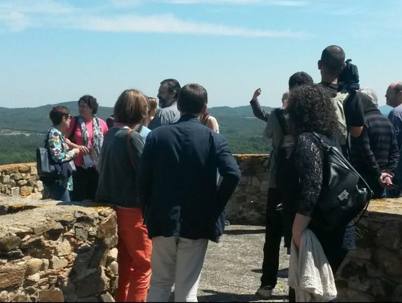 En l'acte d'ahir, es va fer una visita al castell de Brunyola, un dels punts inclosos en les rutes culturals per la comarca EPA