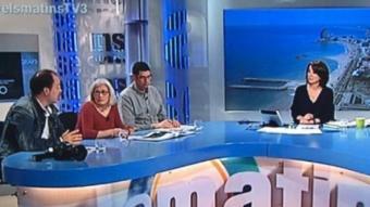 Una tertúlia al programa Els matins de TV3