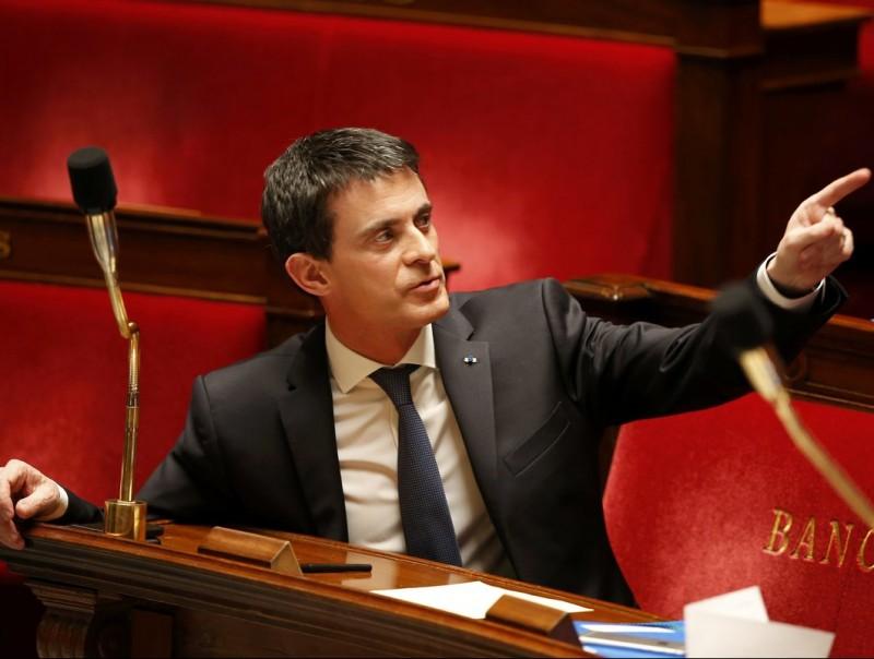 Manuel Valls, el primer ministre francès en una intervenció a l'Assemblea Nacional francesa.  REUTER
